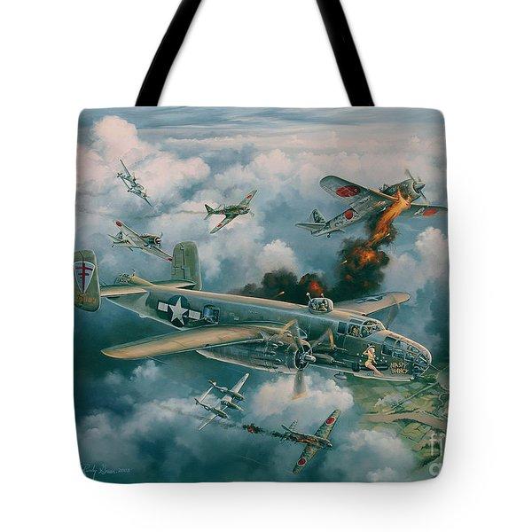 Shoot-out Over Saigon Tote Bag by Randy Green