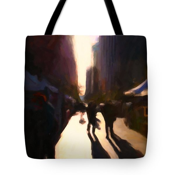 Shopping Stands Along Market Street at San Francisco's Embarcadero - 5D20841 v2 Tote Bag by Wingsdomain Art and Photography