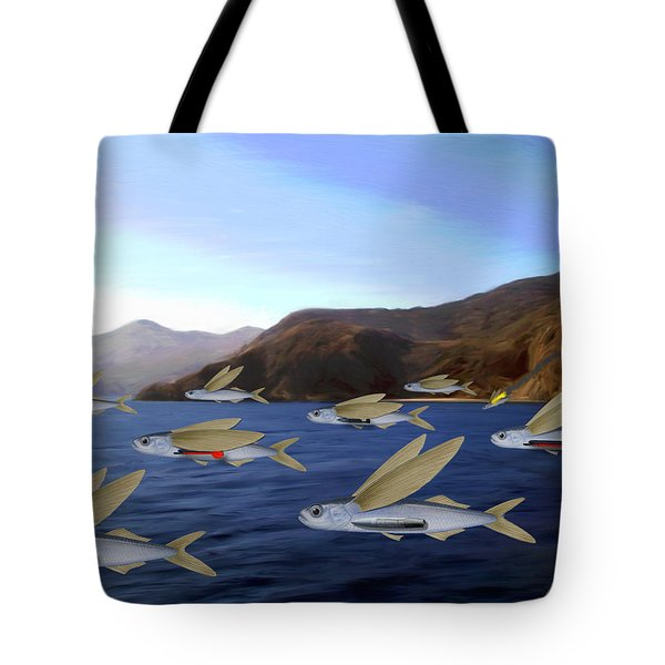 Shoreline Squadron Tote Bag by Snake Jagger