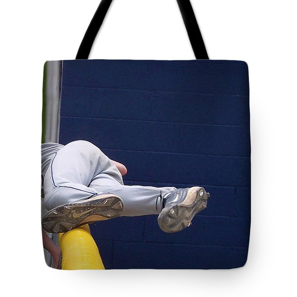 Short Cut Over The Fence Tote Bag by Thomas Woolworth