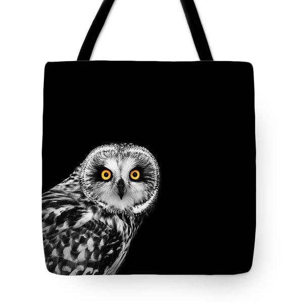 Short-eared Owl Tote Bag by Mark Rogan