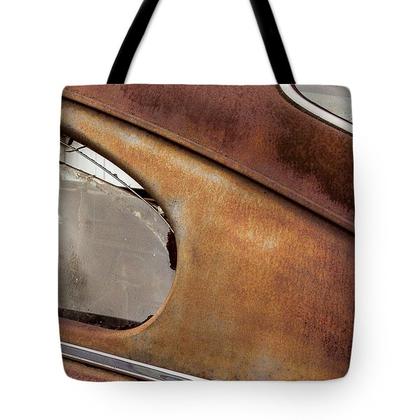 Shot Through The Back Windwo Tote Bag by Jean Noren