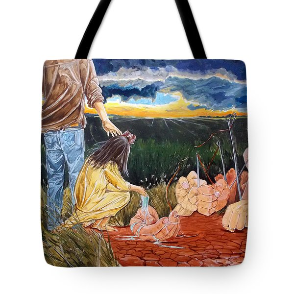 Showing How..... Tote Bag by Lazaro Hurtado