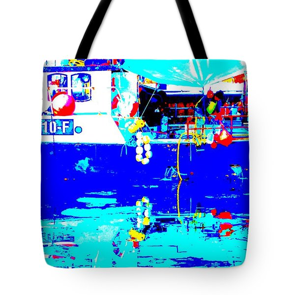 Shrimp fisher Tote Bag by Hilde Widerberg