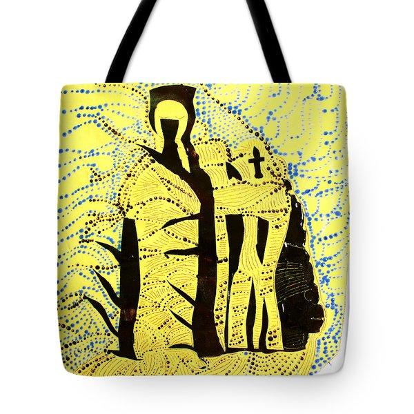 Shroud Of Jesus Tote Bag by Gloria Ssali