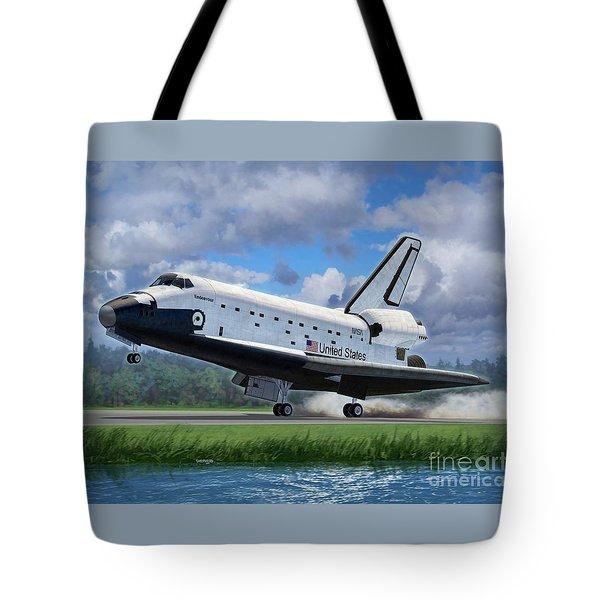 Shuttle Endeavour Touchdown Tote Bag by Stu Shepherd