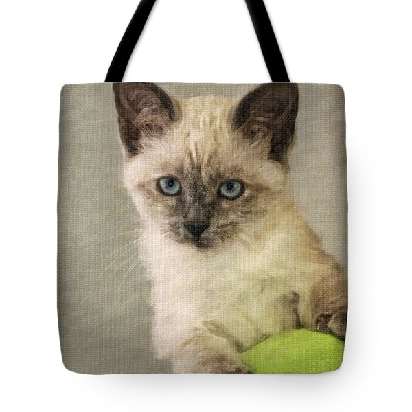 Siamese Kitten Tote Bag by Kenny Francis