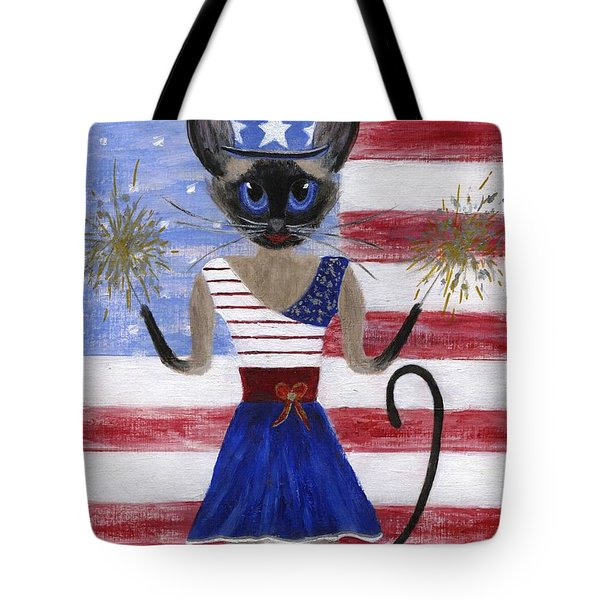 Siamese Queen of the U S A Tote Bag by Jamie Frier