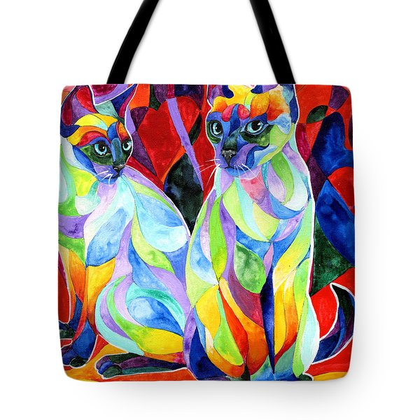 Siamese Sweethearts Tote Bag by Sherry Shipley