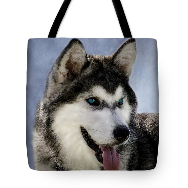 Siberian Husky Tote Bag by Linsey Williams