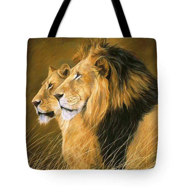 Side By Side Tote Bag by Lucie Bilodeau