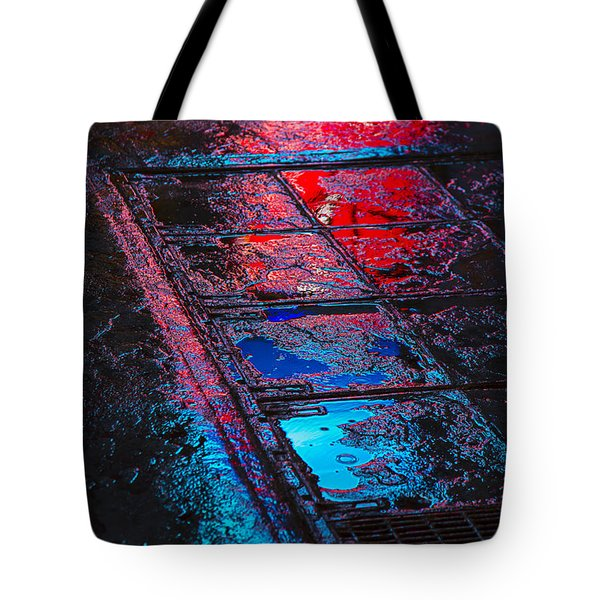 Sidewalk Reflections Tote Bag by Garry Gay