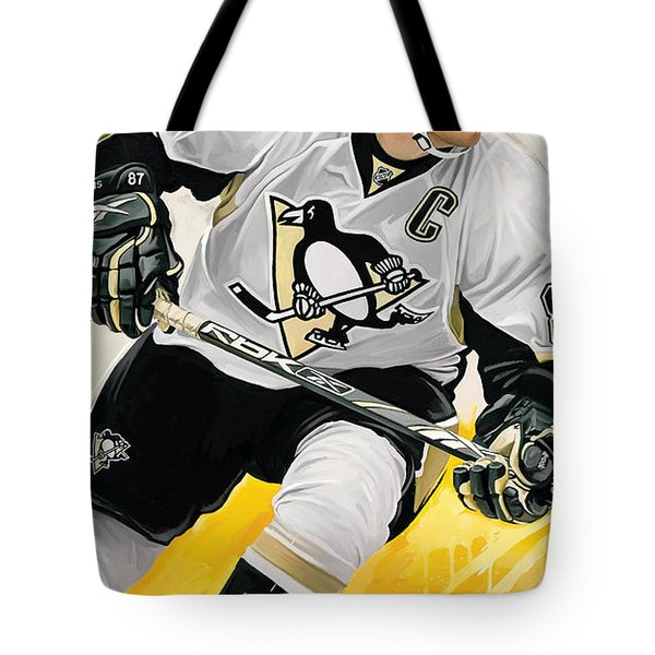 Sidney Crosby Artwork Tote Bag by Sheraz A