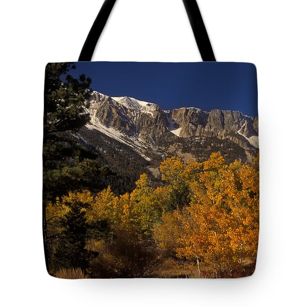 Sierra Nevadas In Autumn Tote Bag by Ron Sanford