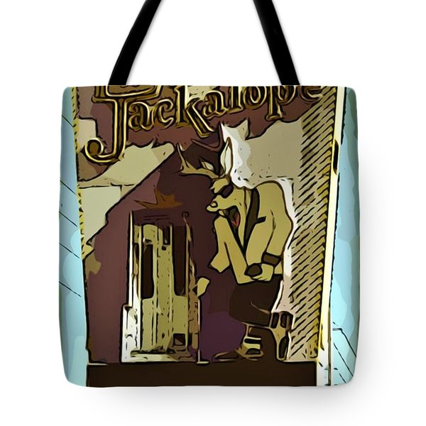 Sign Of The Jackalope Tote Bag by John Malone