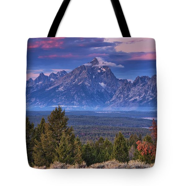 Signal Mountain Sunrise Tote Bag by Mark Kiver