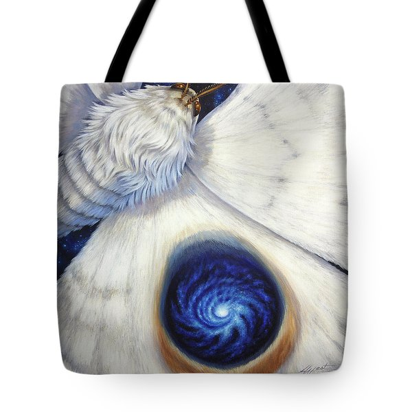 Signature Of The Universe Tote Bag by Lucy West