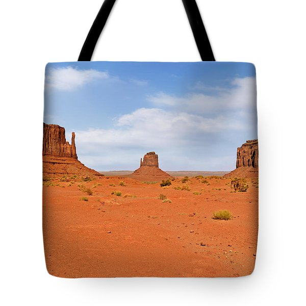 Signatures Of Monument Valley Tote Bag by Christine Till