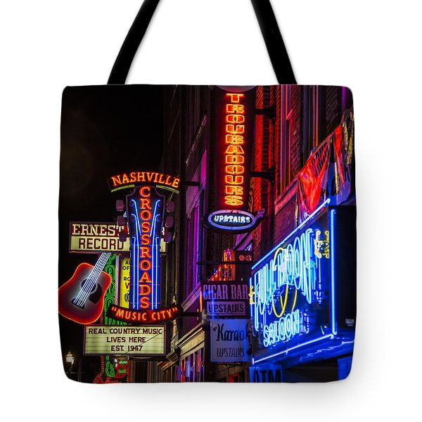 Signs Of Music Row Nashville Tote Bag by John McGraw