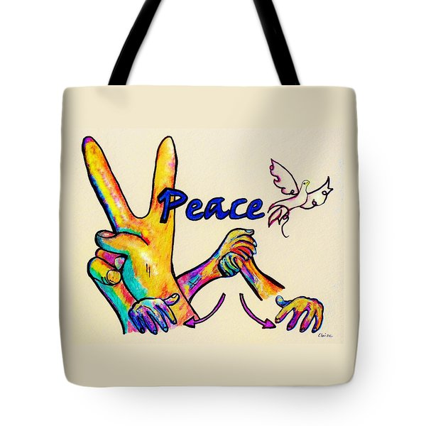 SIGNS OF PEACE Tote Bag by Eloise Schneider
