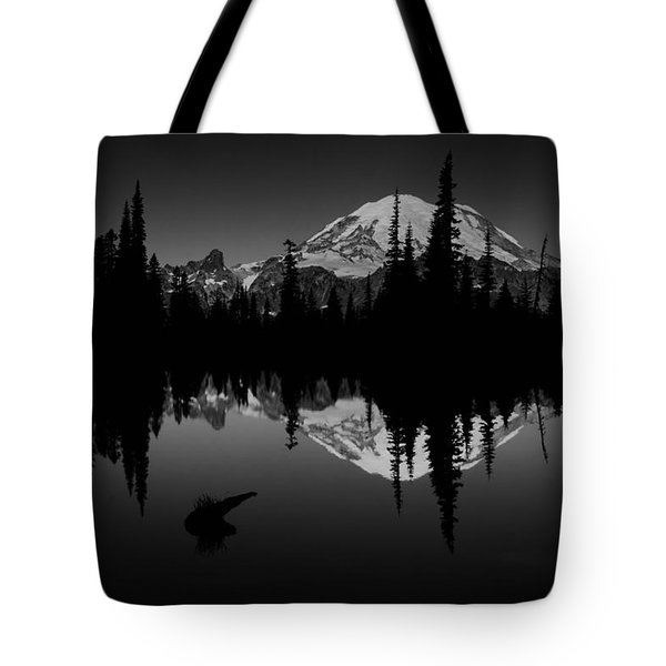 Sihlouette With Tipsoo Tote Bag by Mark Kiver