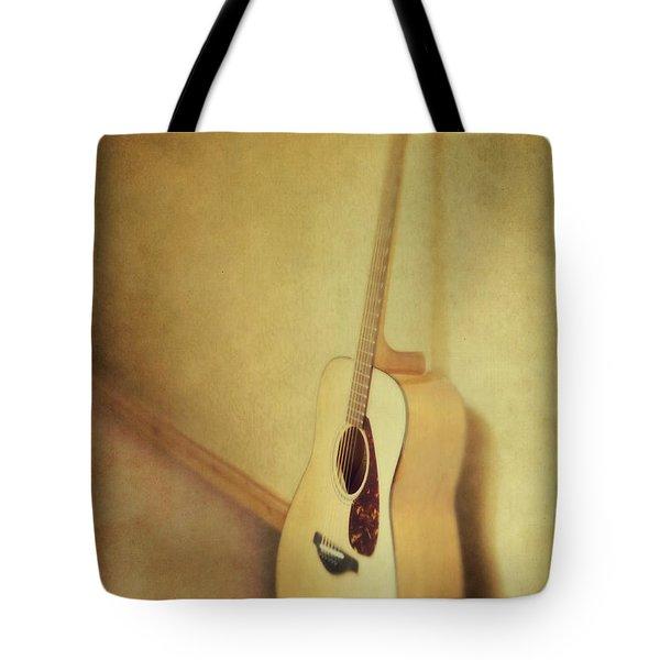 silent guitar Tote Bag by Priska Wettstein