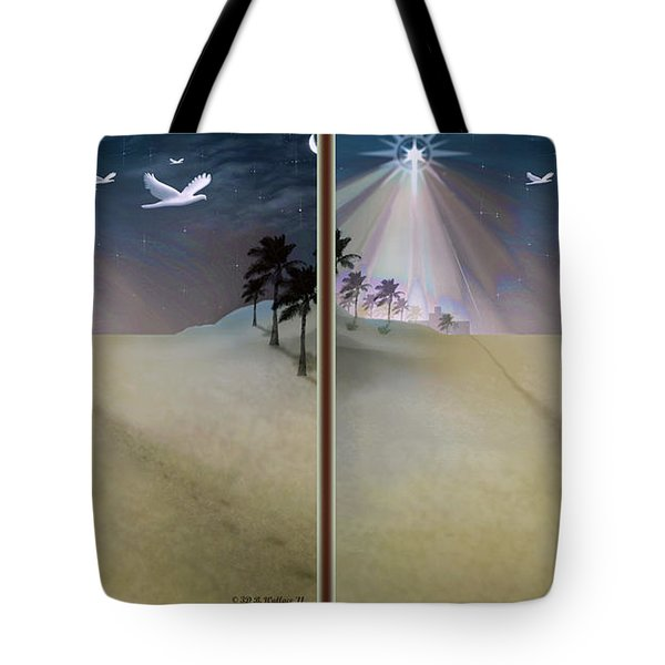 Silent Night - Gently Cross Your Eyes And Focus On The Middle Image Tote Bag by Brian Wallace