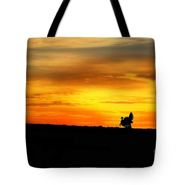 Silhouette Wild Turkey Tote Bag by Dan Friend