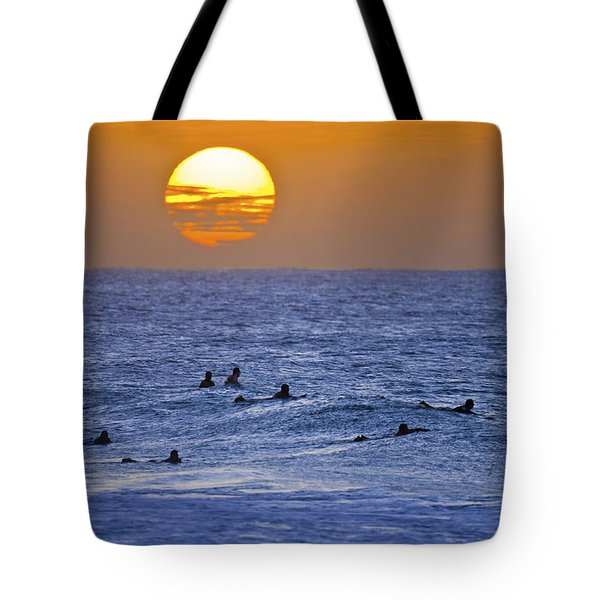Silhouettes And Gold Tote Bag by Sean Davey