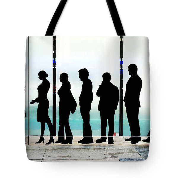 Silhouettes On Broadway Tote Bag by Allen Beatty