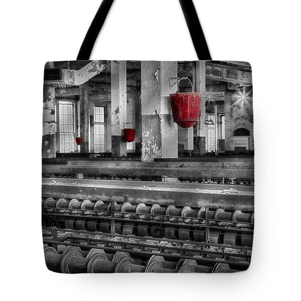 Silk Mill  Tote Bag by Susan Candelario