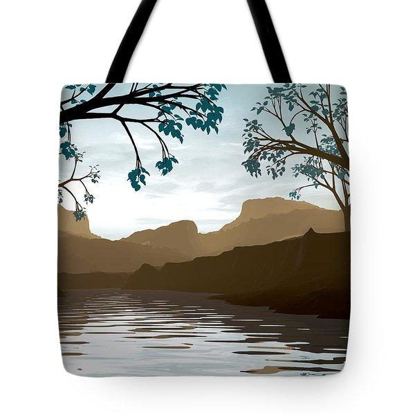 Silkscreen Tote Bag by Cynthia Decker