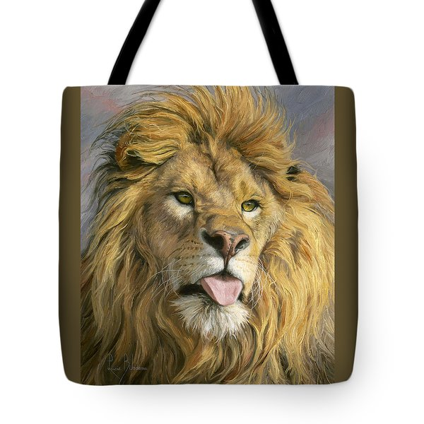 Silly Face Tote Bag by Lucie Bilodeau