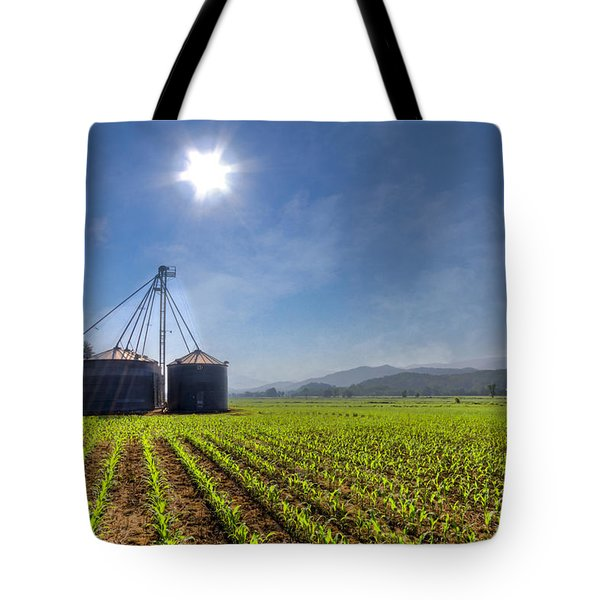 Silos Tote Bag by Debra and Dave Vanderlaan