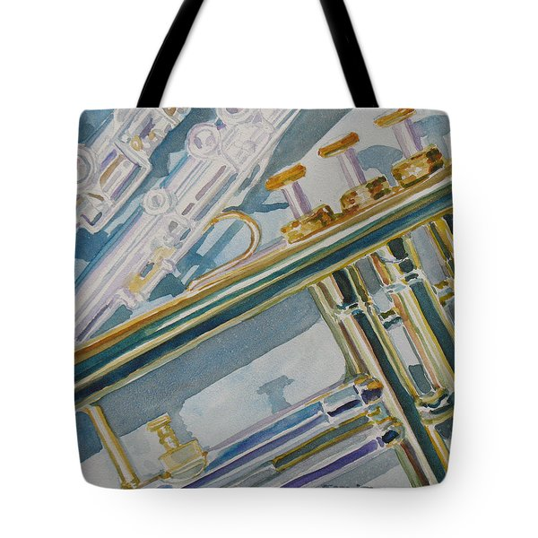 Silver And Brass Keys Tote Bag by Jenny Armitage