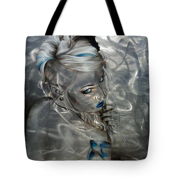 'silver Flight' Tote Bag by Christian Chapman Art