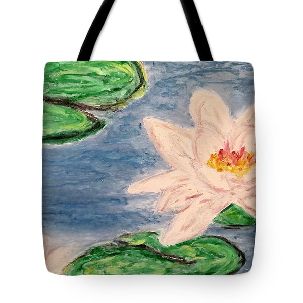 Silver Lillies Tote Bag by Daniel Dubinsky