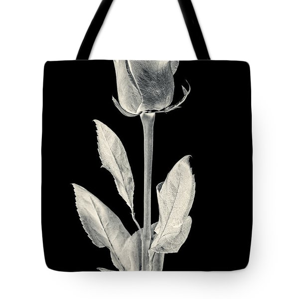 Silver Rose Tote Bag by Adam Romanowicz