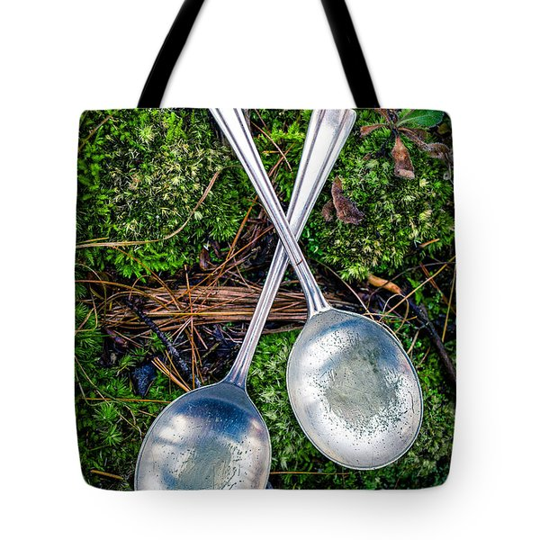 Silver Spoons  Tote Bag by Edward Fielding