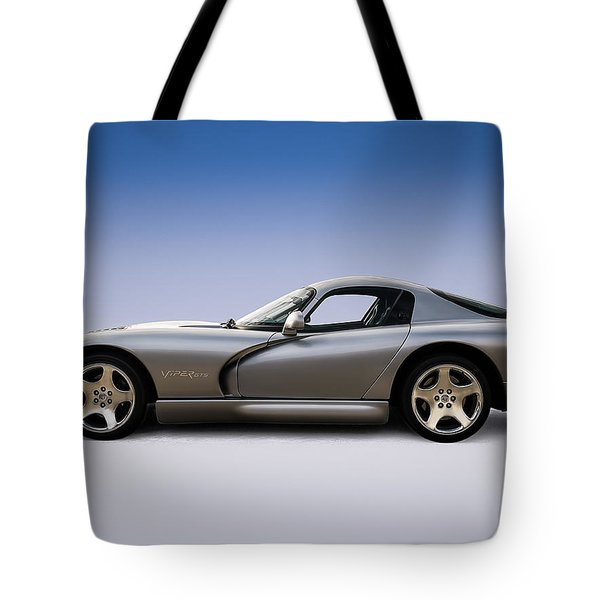 Silver Viper Tote Bag by Douglas Pittman