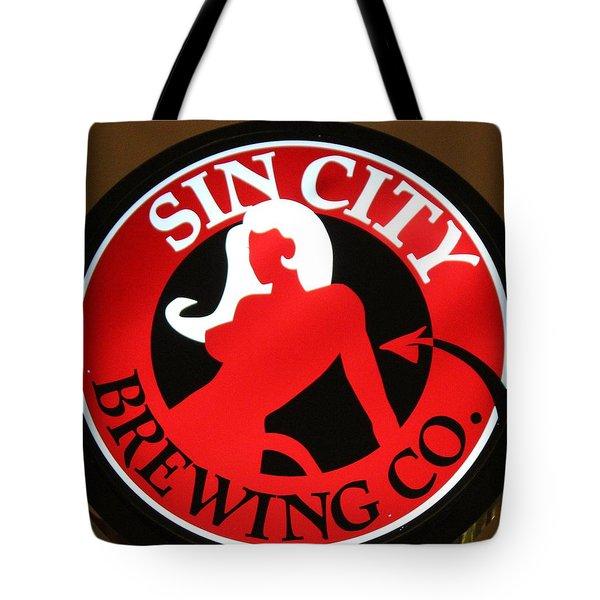 Sin City Brewing  Tote Bag by Cynthia Guinn