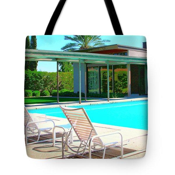 Sinatra Pool Palm Springs Tote Bag by William Dey