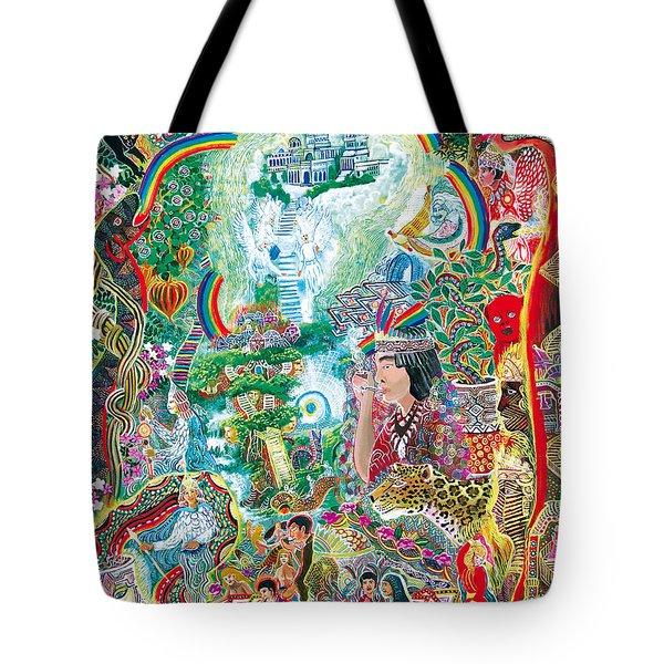 Sinchi Puca Lupuna Tote Bag by Pablo Amaringo