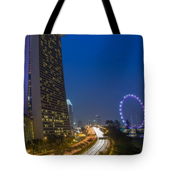 Singapore Evening Tote Bag by Mountain Dreams