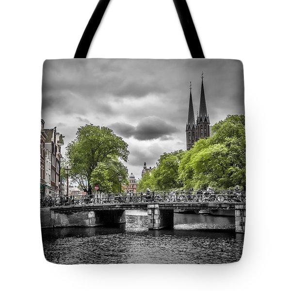 Singel Amsterdam Tote Bag by Melanie Viola
