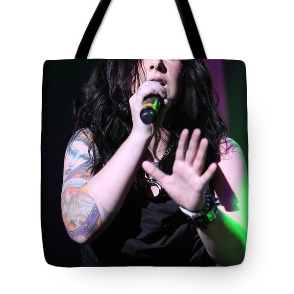 Singing Her Heart Out Tote Bag by Shoal Hollingsworth