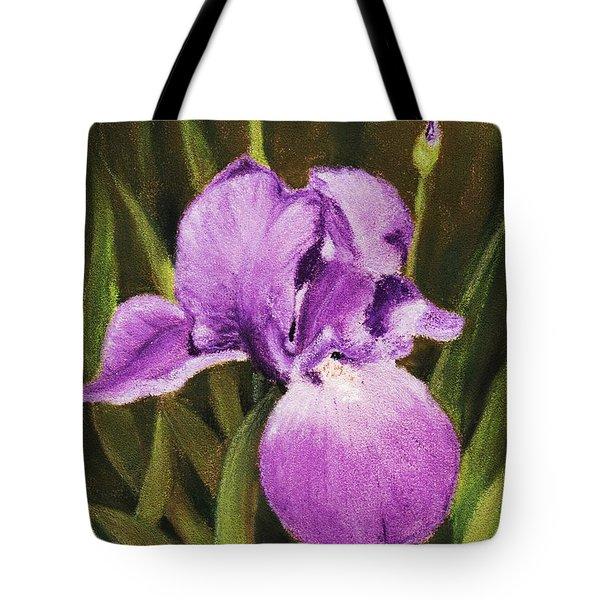 Single Iris Tote Bag by Anastasiya Malakhova