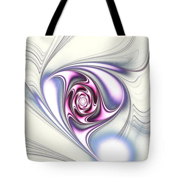 Single Rose Tote Bag by Anastasiya Malakhova