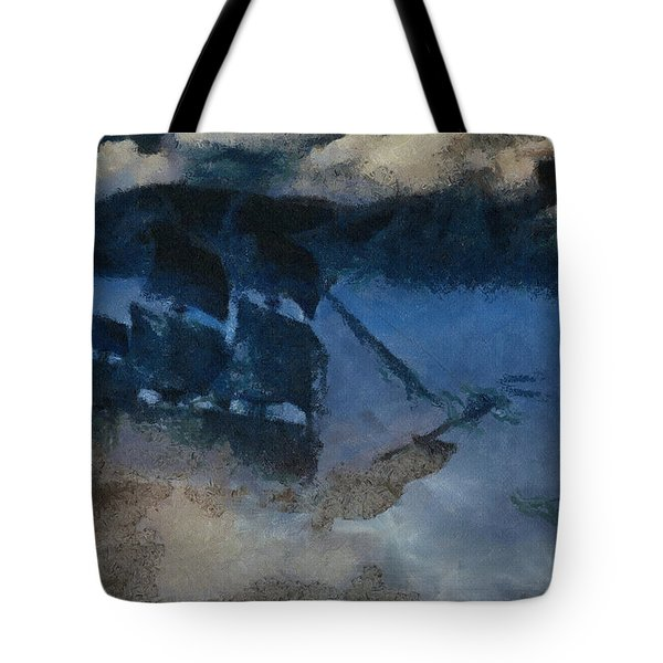 Sinking Sailer Tote Bag by Ayse Deniz