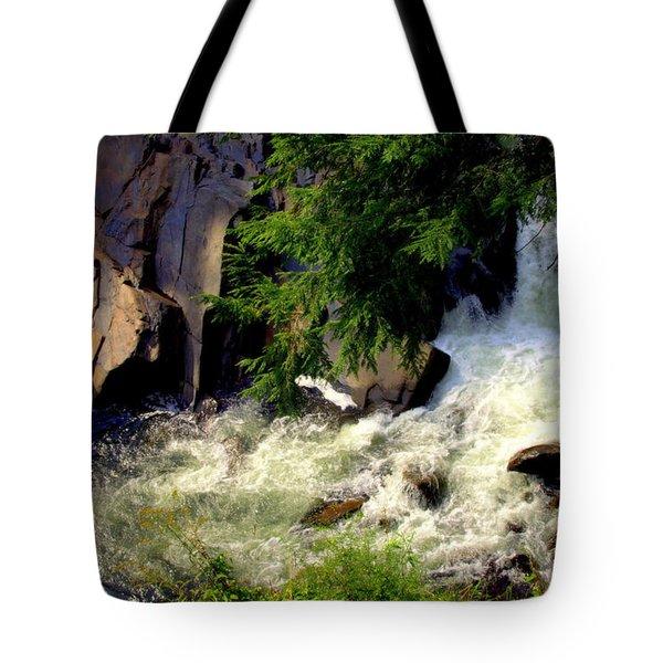 SINKS WATERFALL Tote Bag by KAREN WILES